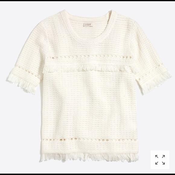 e97d342d9ac J. Crew Tops - J crew cream white cotton J0455 crochet top M